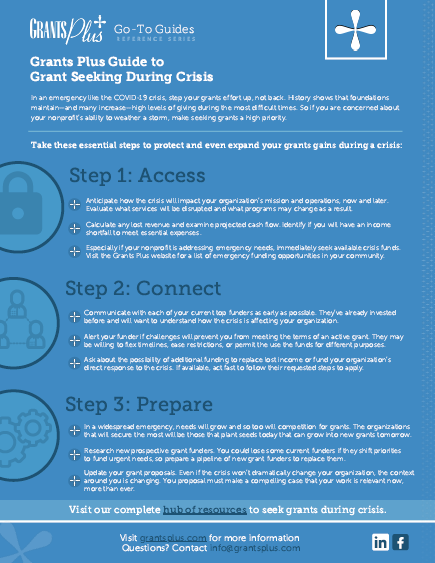 Guide to Grant Seeking During Crisis Image