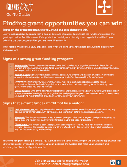 finding grant opportunities guide