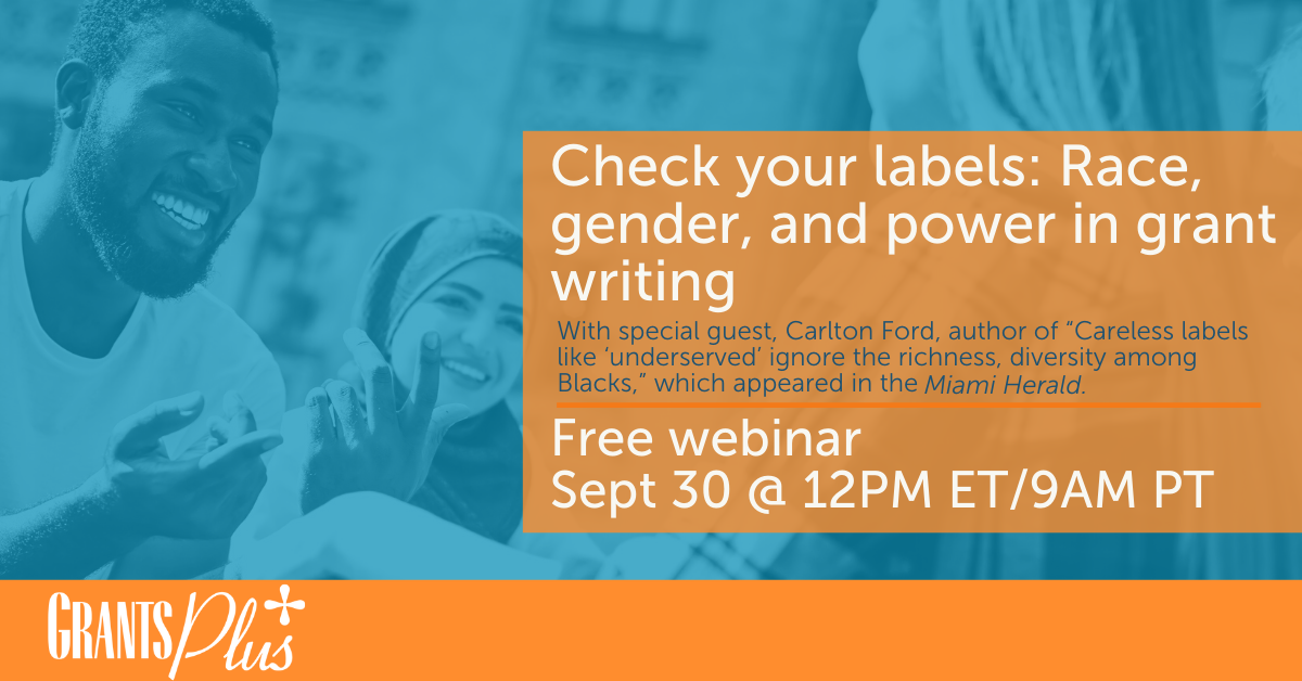 Check your labels Race, gender, and power in grant writing Website Image